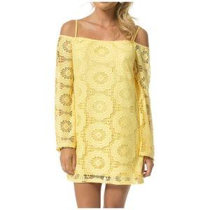 Yellow Lace Dress Teeze Me 11 Juniors